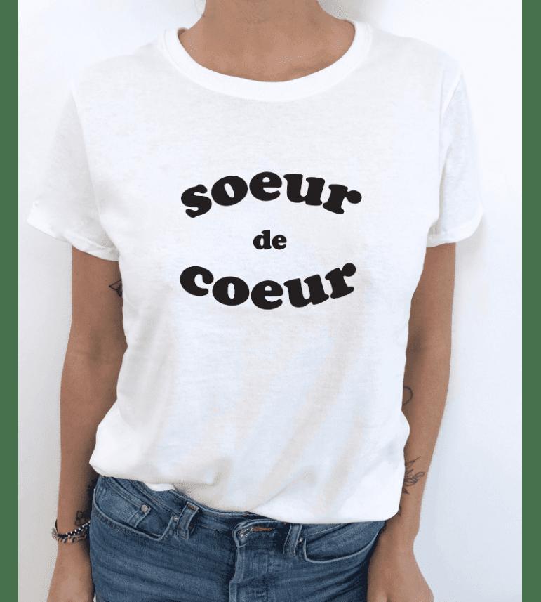 t-shirt femme SOEUR DE COEUR