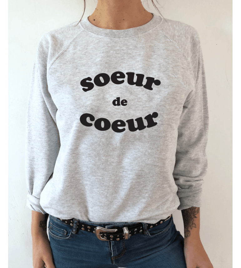 SWEAT FEMME SOEUR DE COEUR