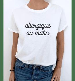 T-SHIRT FEMME ALLERGIQUE AU MATIN