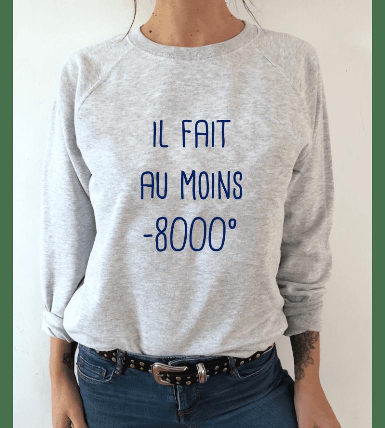 SWEAT FEMME IL FAIT AU MOINS -8000°