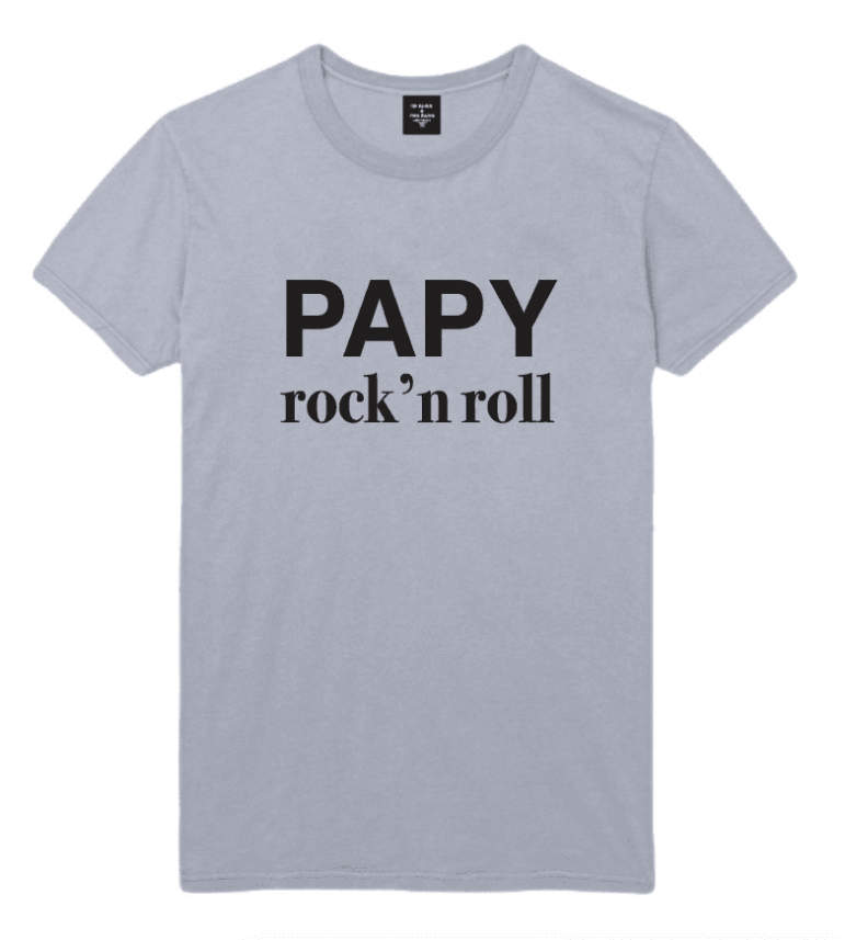 T-SHIRT HOMME PAPY ROCK N ROLL