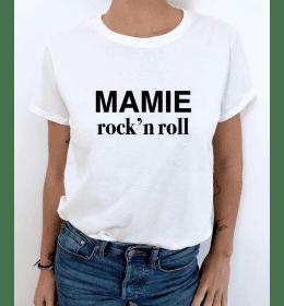 T-SHIRT FEMME MAMIE ROCK N ROLL