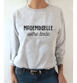 Sweat MADEMOISELLE A PERSONNALISER
