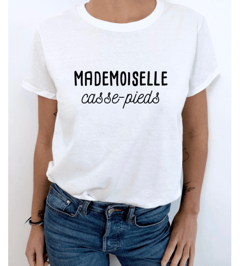 T-shirt MADEMOISELLE A PERSONNALISER