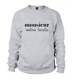 sweat MONSIEUR A PERSONNALISER