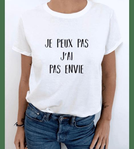 """t-shirt femme """"je peux pas"""" à personnaliser"""