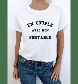 t-shirt femme EN COUPLE AVEC MON PORTABLE