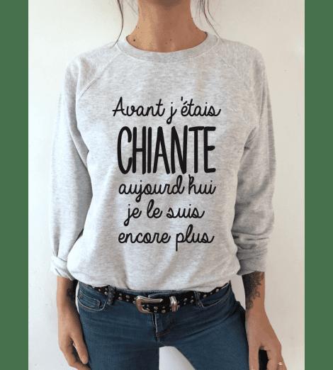 Sweat femme AVANT J'ÉTAIS CHIANTE...