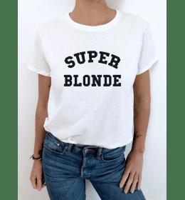 t-shirt femme SUPER BLONDE