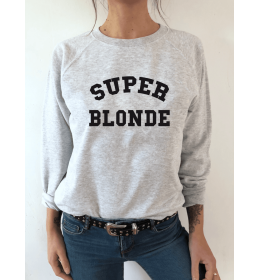 sweat femme SUPER BLONDE