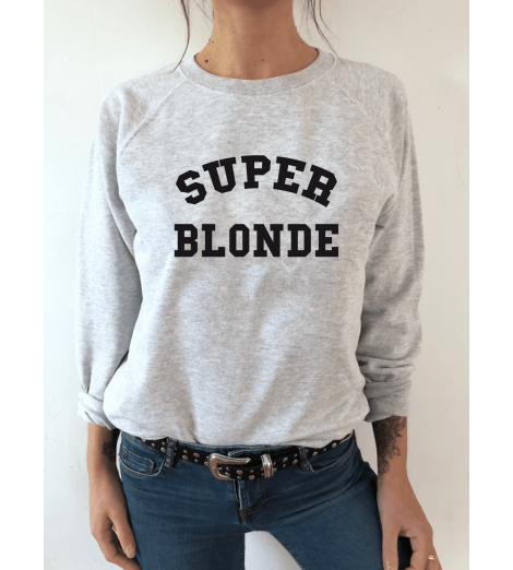 sweat femme SUPER BLONDE
