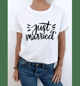 t-shirt femme JUST MARRIED