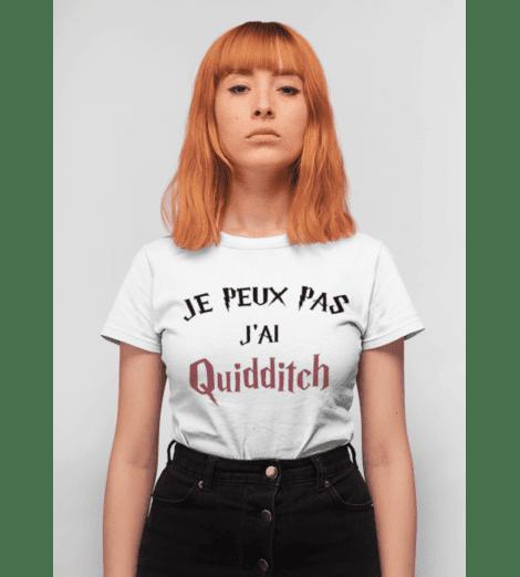T-shirt femme JE PEUX PAS J'AI QUIDDITCH