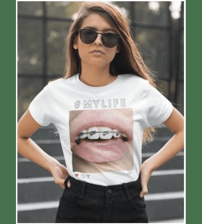 t shirt femme instagram smile