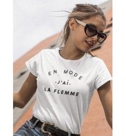 T-shirt Femme EN MODE J'AI LA FLEMME