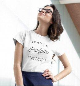 T-shirt TÉMOIN PARFAITE POUR COUPLE PARFAIT