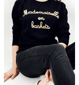 Woaman Sweater MADEMOISELLE EN BASKETS gold