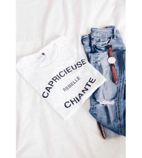 T-shirt CAPRICIEUSE REBELLE CHIANTE