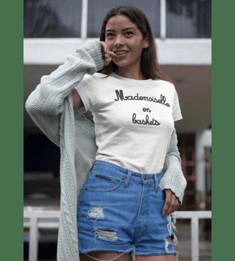 T-shirt femme MADEMOISELLE EN BASKETS