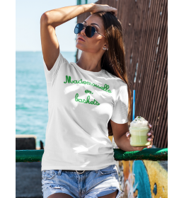 woman t-shirt MADEMOISELLE EN BASKETS green