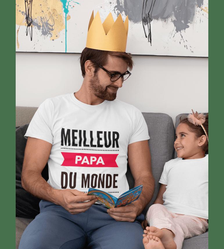 T-shirt homme LE MEILLEUR PAPA DU MONDE