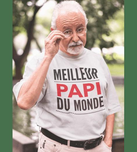 T-shirt homme LE MEILLEUR PAPI DU MONDE