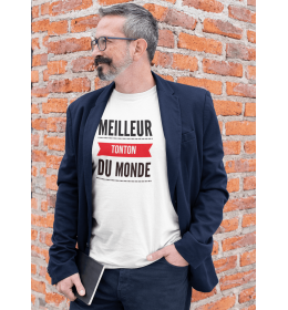 T-SHIRT HOMME LE MEILLEUR TONTON DU MONDE rouge