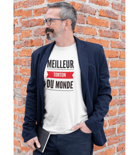 T-SHIRT HOMME LE MEILLEUR TONTON DU MONDE