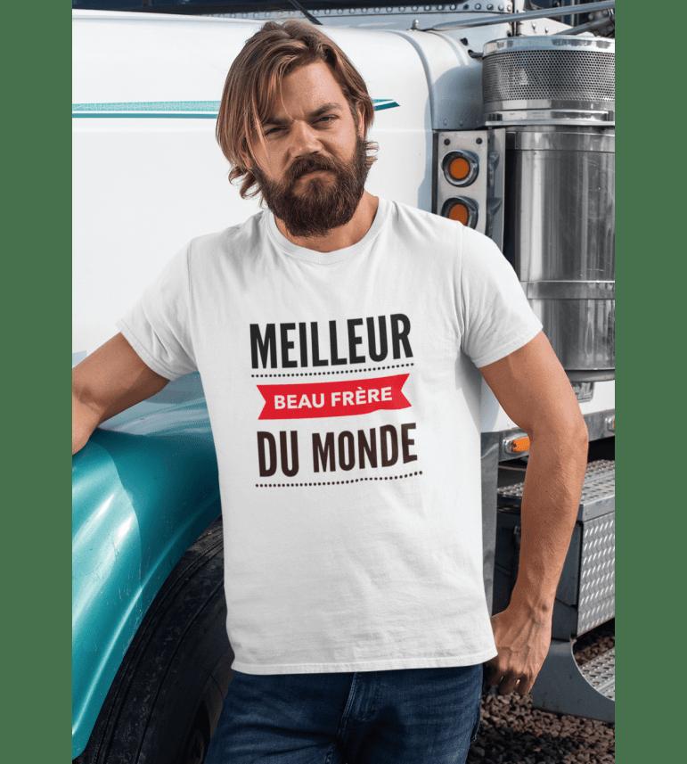 T-shirt homme LE MEILLEUR BEAU-FRÈRE DU MONDE