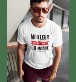T-shirt homme LE MEILLEUR GRAND FRÈRE DU MONDE