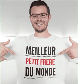 T-shirt homme LE MEILLEUR PETIT FRÈRE DU MONDE