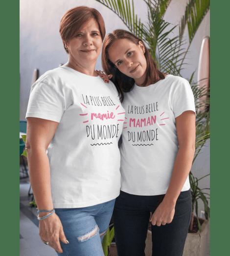 T-SHIRT FEMME LA PLUS BELLE MAMAN DU MONDE