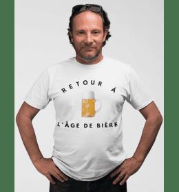 T-shirt homme RETOUR À L'ÂGE DE BIÈRE