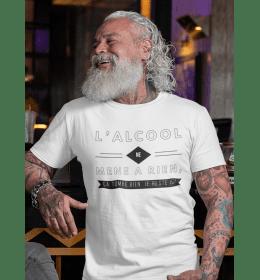 T-shirt homme L'ALCOOL NE MÈNE À RIEN