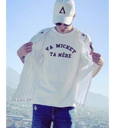 T-shirt Homme VA MICKEY TA MERE