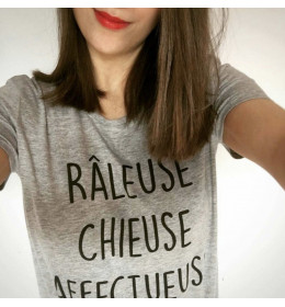 T-shirt Femme RÂLEUSE CHIEUSE AFFECTUEUSE