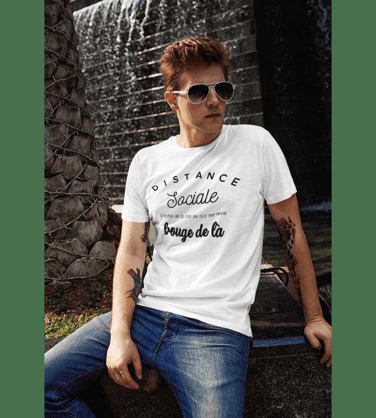 T-shirt homme DISTANCE SOCIALE - BOUGE DE LÀ