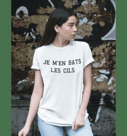 T-shirt femme JE M'EN BATS LES CILS