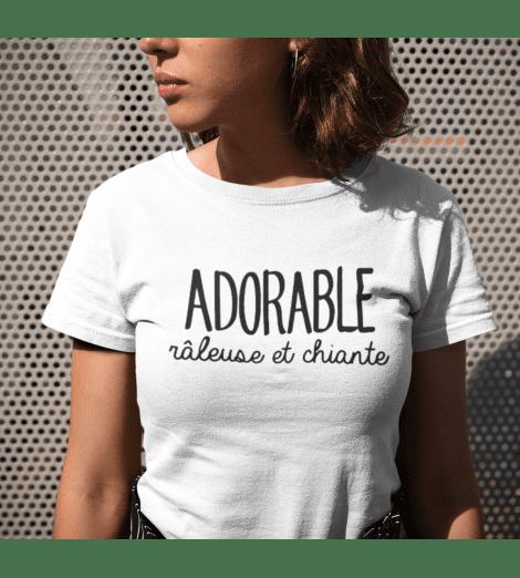 t-shirt femme adorable râleuse et chiante