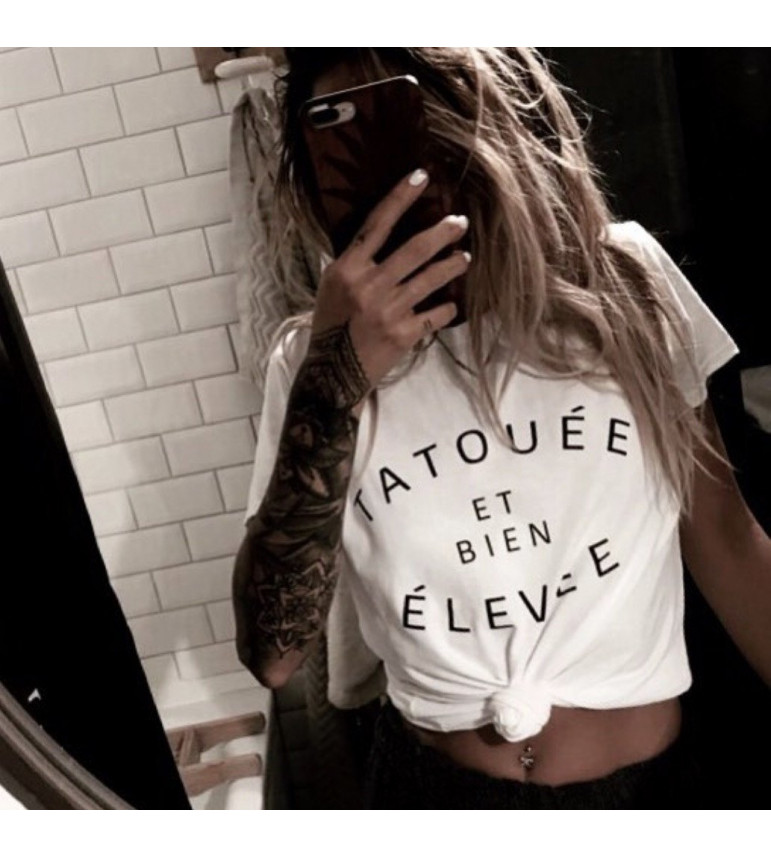 T-shirt TATOUÉE et bien ÉLEVÉE