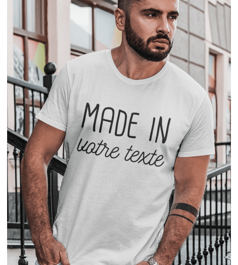 T-shirt homme à personnaliser Made in...