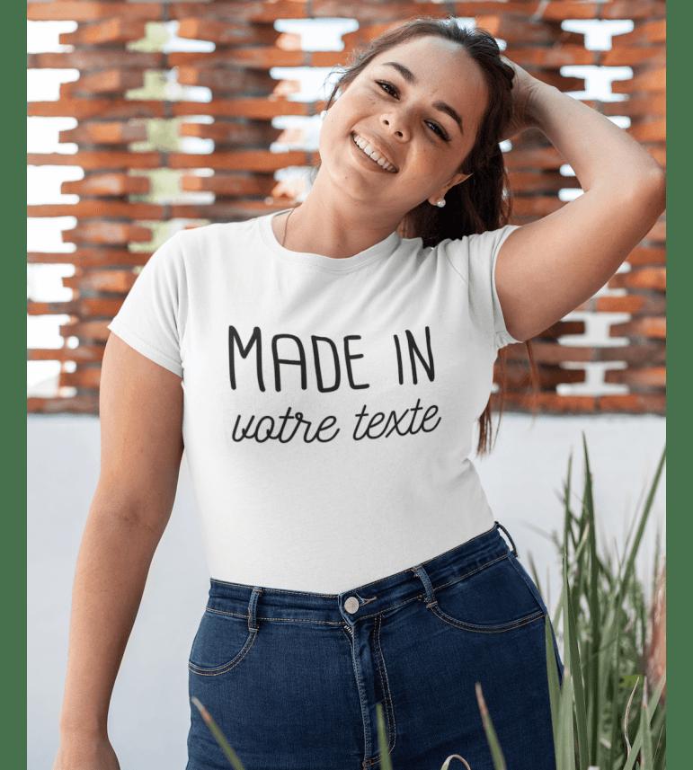T-shirt femme à personnaliser Made in...