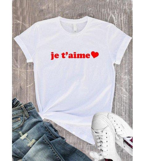 T-Shirt femme je t'aime