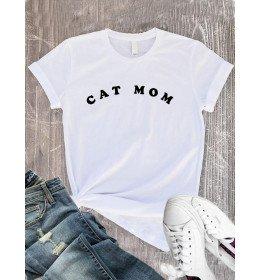 T-Shirt femme cat mom