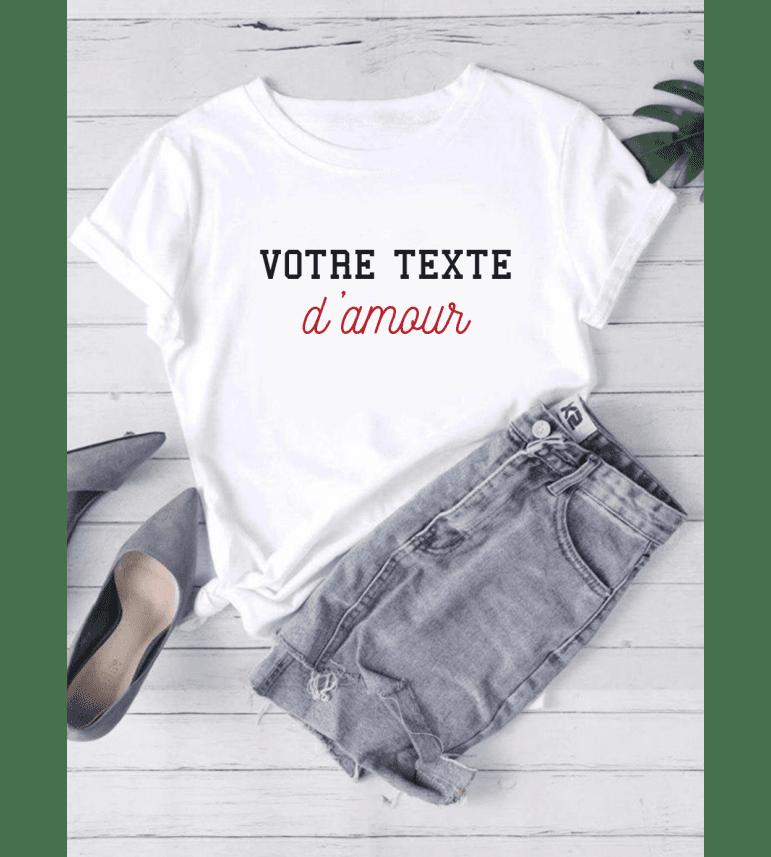 T-shirt Femme Petit nom D'AMOUR Personnalisé