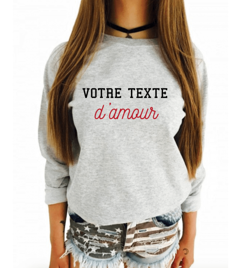 Sweat Femme Petit nom D'AMOUR Personnalisé