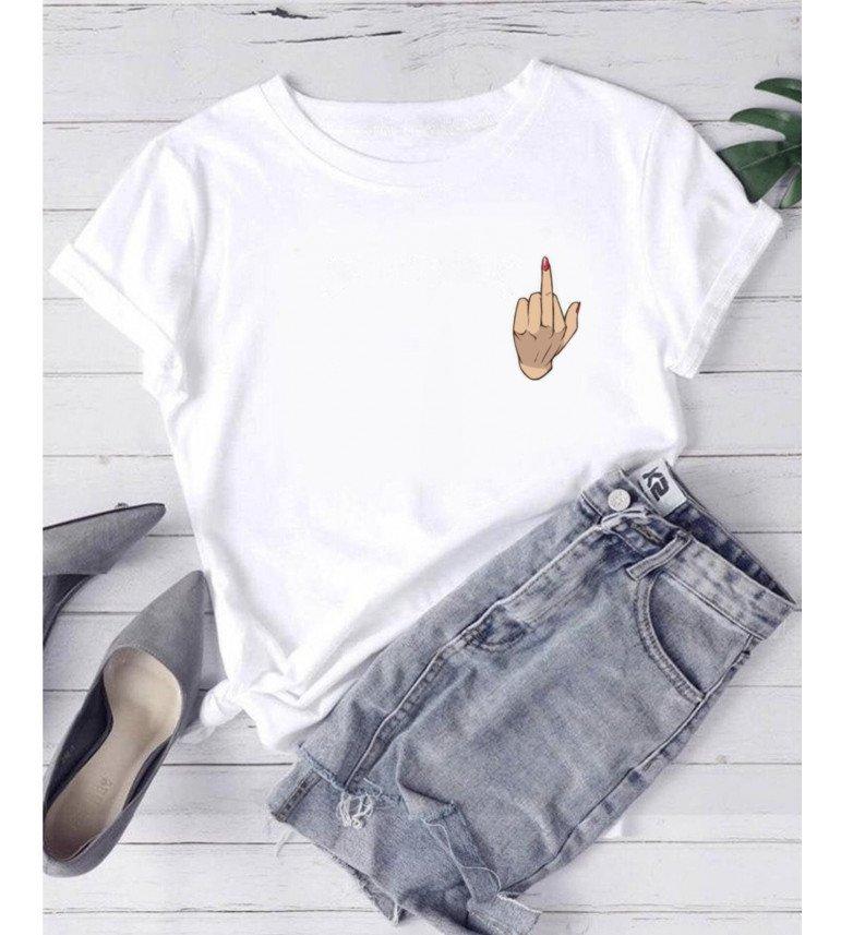 T-shirt ferme doigt d'honneur