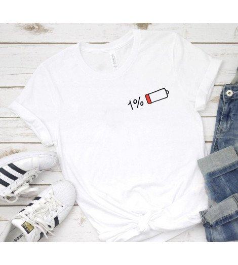 T-shirt Femme BATTERIE FAIBLE