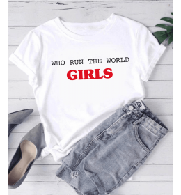 T-shirt Femme WHO RUN THE WORLG GIRLS