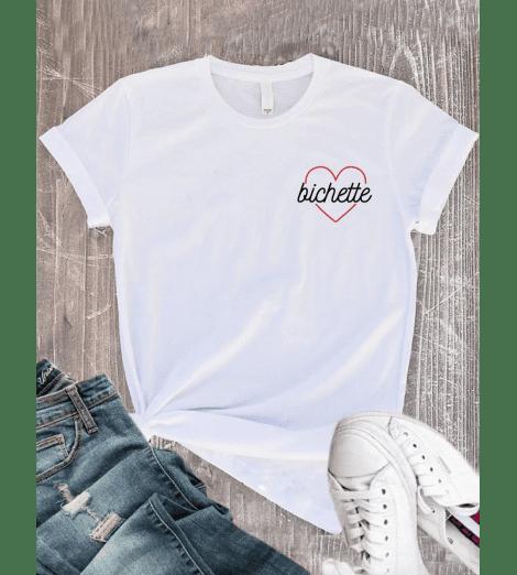 T-shirt Femme COEUR BICHETTE